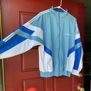 Adidas Blue and White Track Jacket